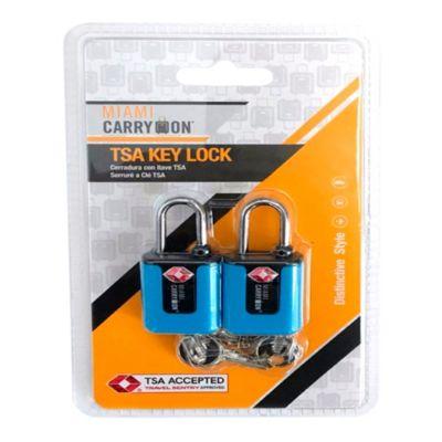 Cerradura con Llave TSA Azul
