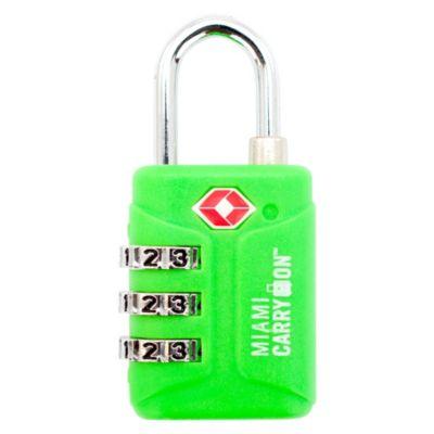 Cerradura de Combinación 3 Dígitos Verde