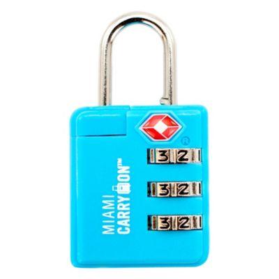 Cerradura de Combinación 3 Dígitos Azul