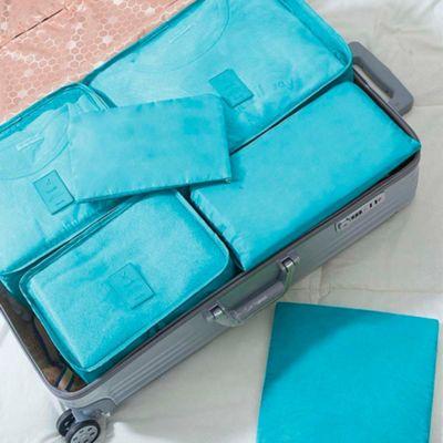 Set de 6 Estuches para Viaje Azul