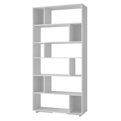 Librero Performa 90x29x187cm Blanco
