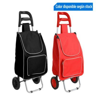 Carrito de compras plegable Rojo y negro