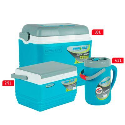 Combo cooler 3 piezas  30L, 4.5L y termo de 2.5L