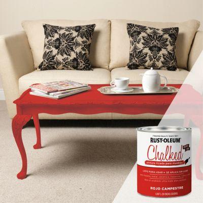 Pintura Tizada Ultra Mate Chalked Brochable Rojo Campestre 0,887L