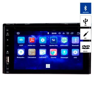 "Autoradio Pantalla Tactil 6.2"" Bluetooth/CD/DVD/USB/AUX DD-9071BT"