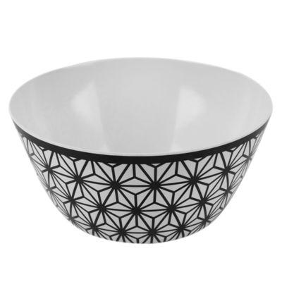 Bowl Melamina Blanco y Negro 25x11.7cm