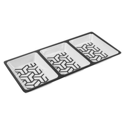 Plato Rectangular 3 Divisiones 33.5x15.9x2.8cm