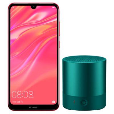 Combo Huawei Y7 2019 Rojo + Mini Speaker Esmeralda 3W