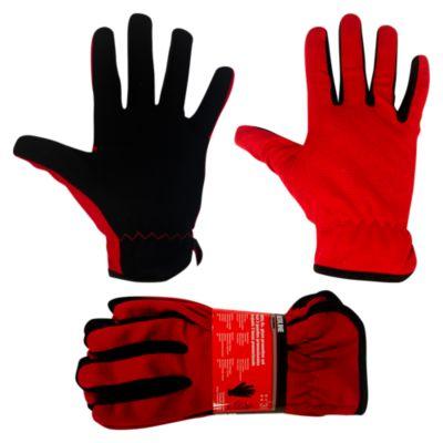 Set de 3 guantes Rojo con Negro