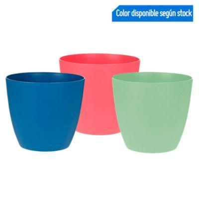 Maceta Plástico 15cm Colores
