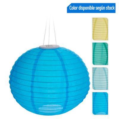 Farol Solar Led 28cm Azul