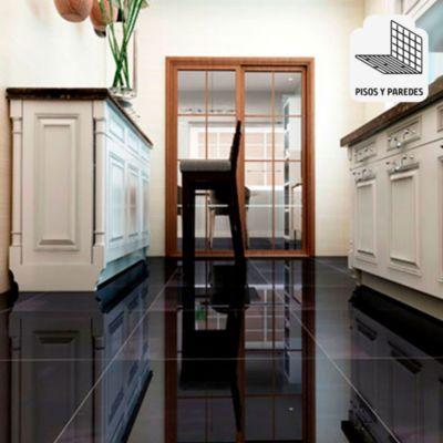 Porcelanato Negro Liso 60x60 cm para piso o pared
