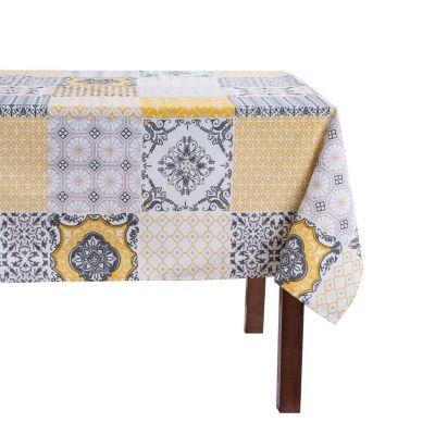 Mantel Mosaico Rectangular 160x230cm Amarillo