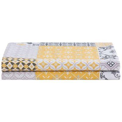 Mantel Mosaico Redondo 180cm Amarillo