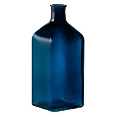 Botella Decorativa Vidrio Azul