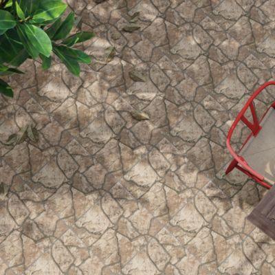 Cerámica Piedra Geométrica Marrón Rústico 45x45 para piso