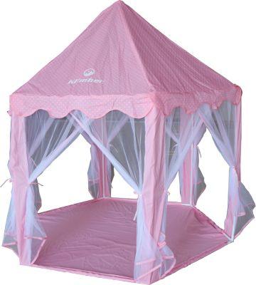 Carpa castillo infantil rosado
