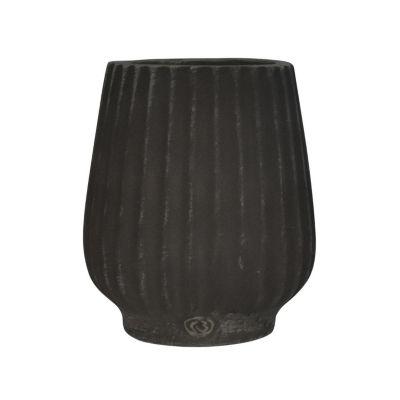 Maceta Kata negro/blanco 13x15cm