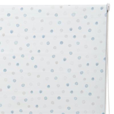 Cortina Roller Black Out Dots Azul 160x165