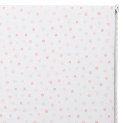 Cortina Roller Black Out Dots Rosa 80x165