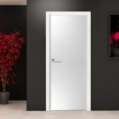 Puerta Interior Bilbao HDF 80 x 207 x 4 Blanca