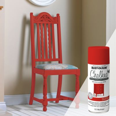 Pintura tizada para muebles Chalked Rojo Campestre 340G