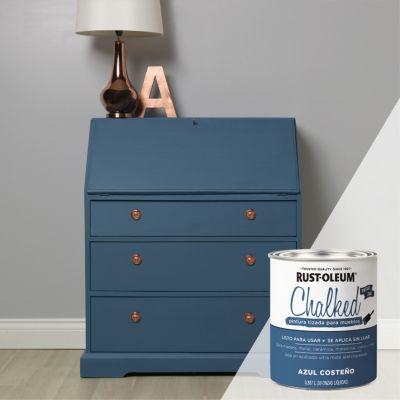 Pintura Tizada para Muebles 0.887L Azul Costeño