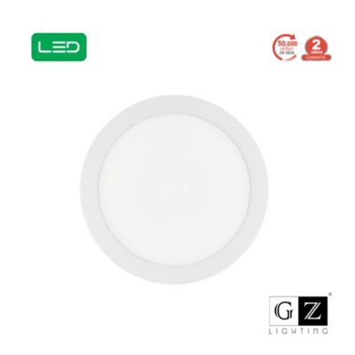 Panel LED Adosable Redondo 18w Luz Día