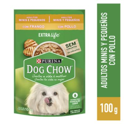 Dog Chow Adultos Raza Pequeña Buffet de Pollo Sobre 100gr
