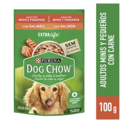 Dog Chow Adultos Raza Pequeña Festival de Salmón Sobre 100gr