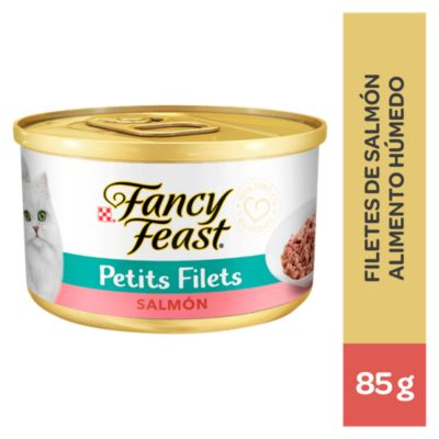 Fancy Feast Mini Filetes con Salmón Lata 85gr