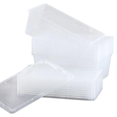 Set x10 Cajas Organizadoras 6 Litros Transparente