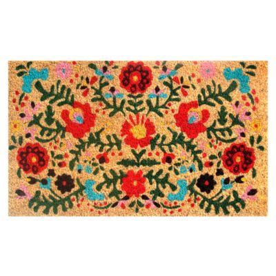 Limpiapiés Flores 45x75cm