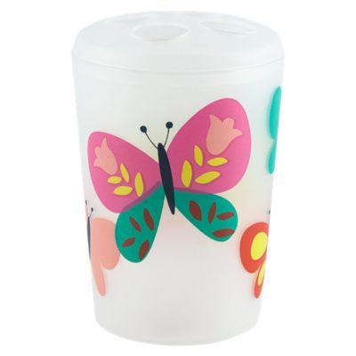 Portacepillo Mariposa Blanco