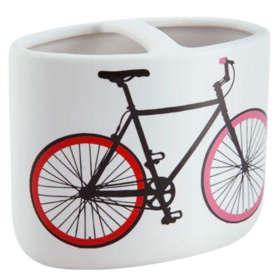 Portacepillo Bicicleta Blanco