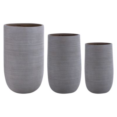 Set x3 Macetas Tall Taupe