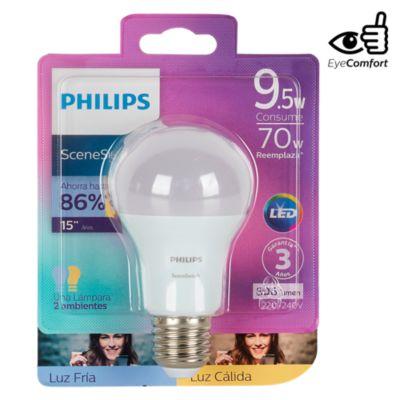 Foco LED Bulbo A60 E27 9.5W Luz Blanca / Amarilla