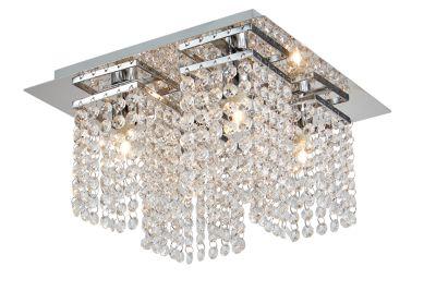 Lámpara Colgante Cristal 4 Luces G9