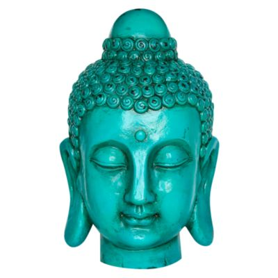 Cabeza Buda 44cm Azul