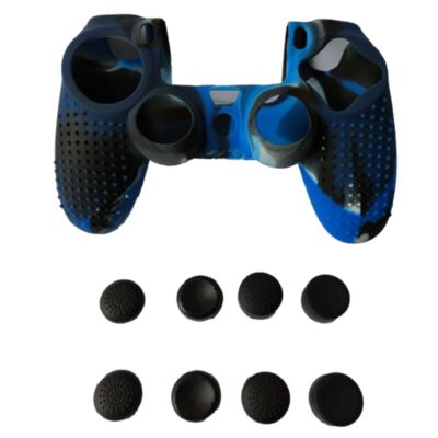 Funda Silicona + 8 Thumb Mando Azul Mix 1