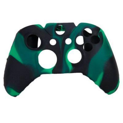 Funda Silicona + 2 Thumb Mando Camuflado Verde