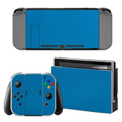 Skin Fibra Carbono Azul