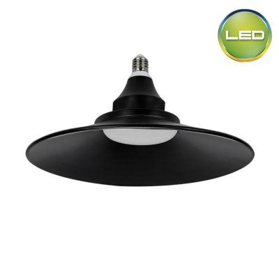 Foco UFO Campana 25W E27 Negro Luz Intermedia 25cm