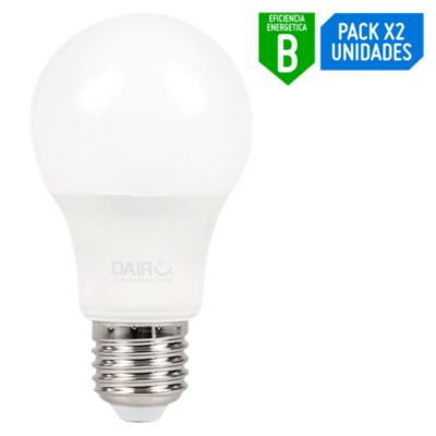 Pack x2 Foco LED Bulbo A60 13W E27 Luz Blanca