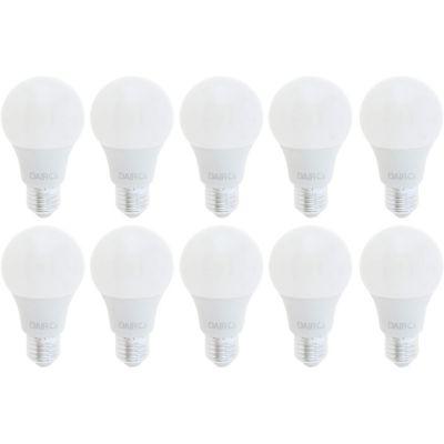 Pack x10 Foco LED Bulbo A60 8.5W E27 Luz Blanca
