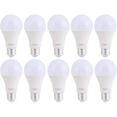 Pack x10 Foco LED Bulbo A60 10.5W E27 Luz Amarilla