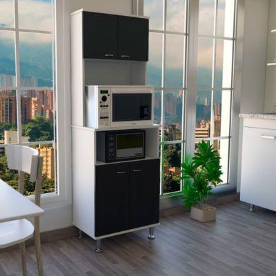 Mueble de Cocina Kitchen Blanco / Wengue