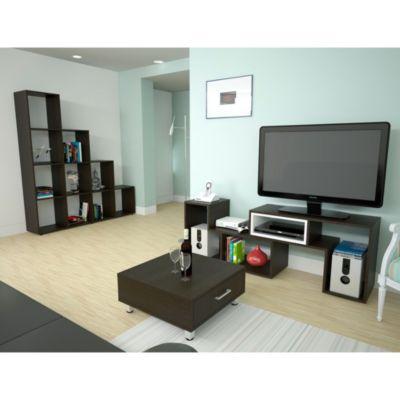 """Mesa TV Beiging 40"""" + Biblioteca 13 Repisas + Mesa de Centro"""