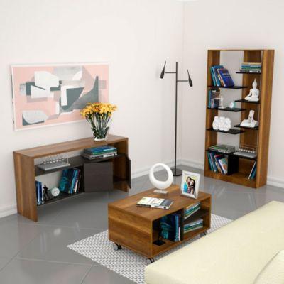 Biblioteca 10 Repisas + Mesa de Centro Classic + Arrimo