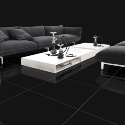 Porcelanato Black Liso 60x60cm para piso o pared